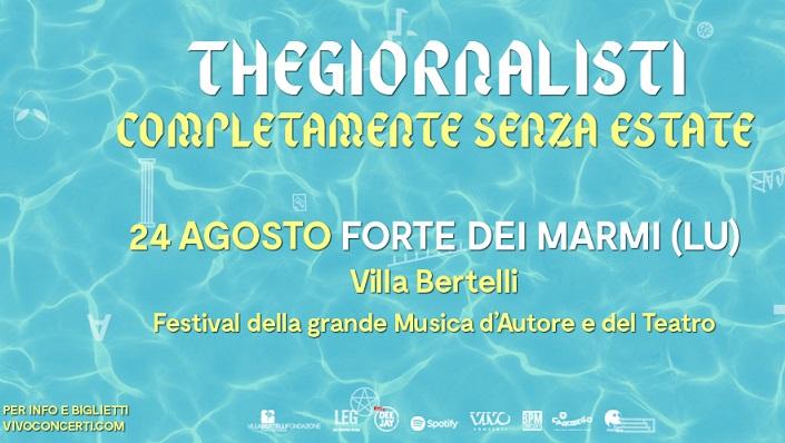 TheGiornalisti, Il fenomeno del nuovo pop italiano ad agosto in concerto a Villa Bertelli