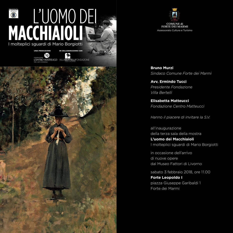 """""""L'uomo dei Macchiaioli – i molteplici sguardi di Mario Borgiotti"""", inaugurazione terza sala"""