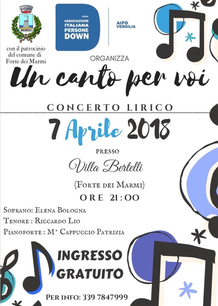 """Concerto di beneficenza """"Un canto per voi"""""""
