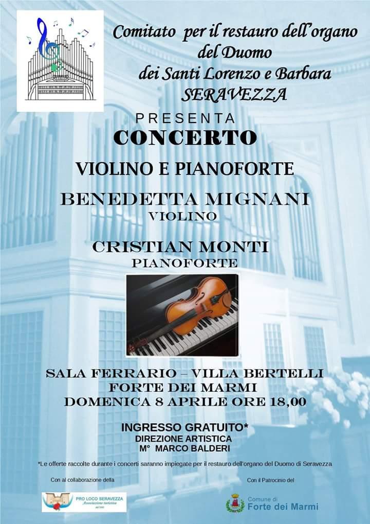 Concerto di beneficenza per il restauro dell'organo del Duomo di Seravezza