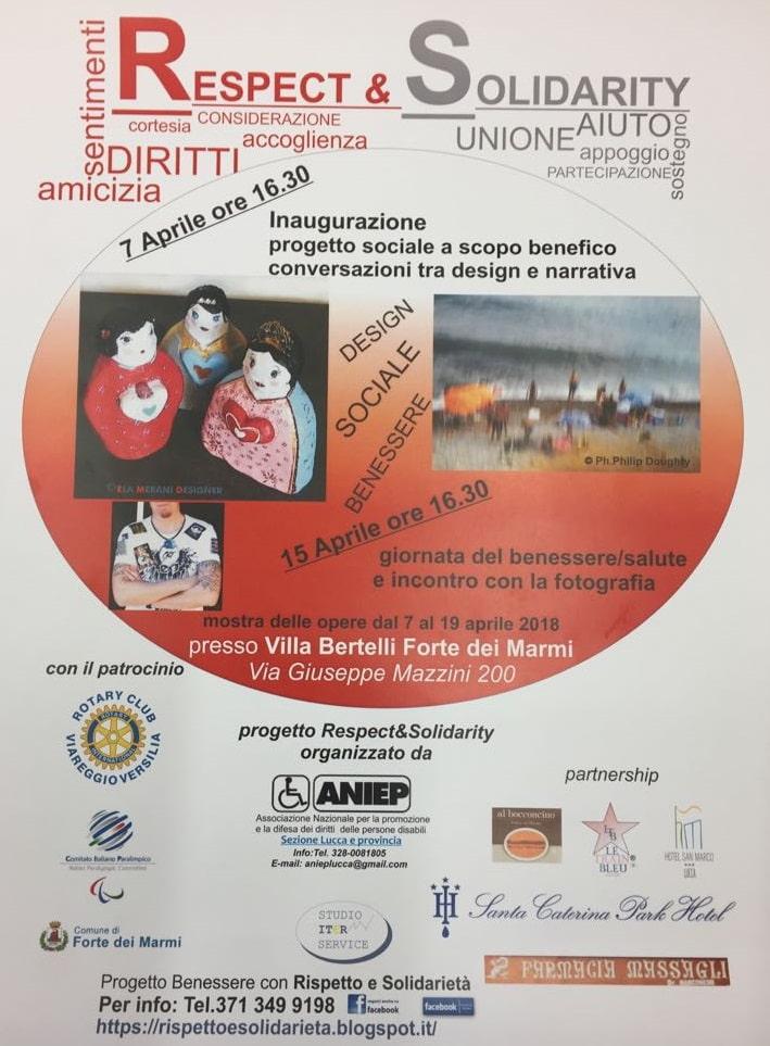 """""""Respect & Solidarity"""" mostra e convegni – progetto sociale promosso da ANIEP sez. Lucca e provincia"""