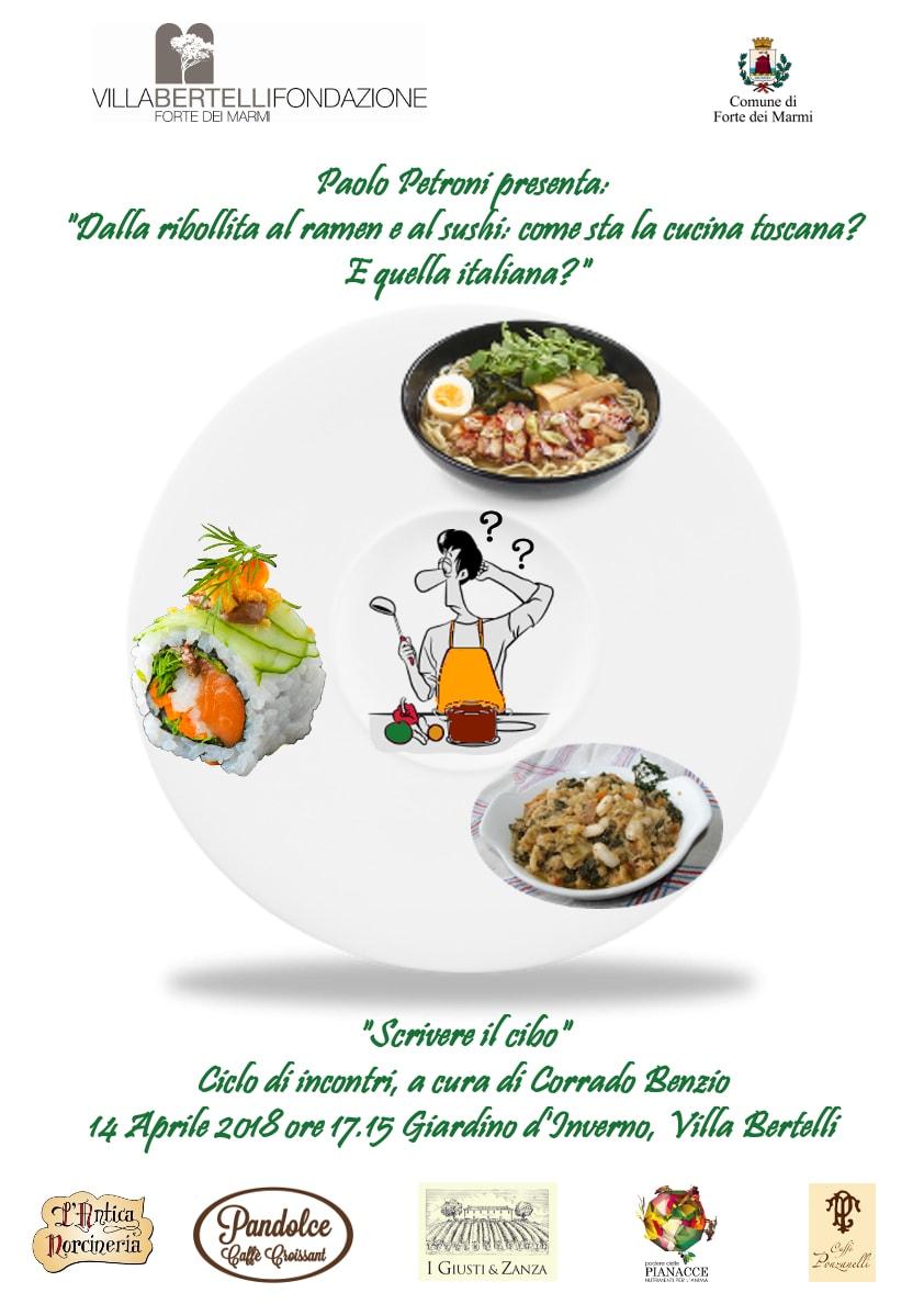 Scrivere il cibo – Paolo Petroni, presidente dell'Accademia Italiana della cucina a Villa Bertelli