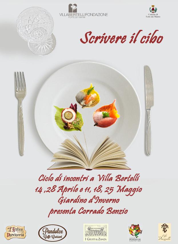 """""""Scrivere il cibo"""", la rassegna dell'arte culinaria di scena a Villa Bertelli in cinque incontri."""