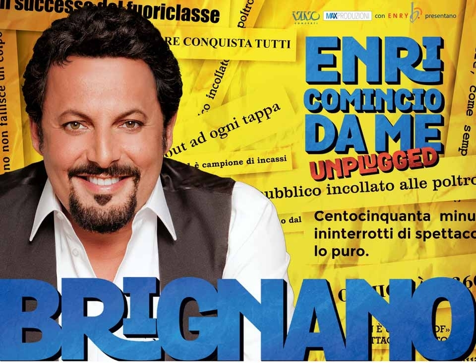 """Enrico Brignano in """"Enricomincio da me Unplugged"""""""