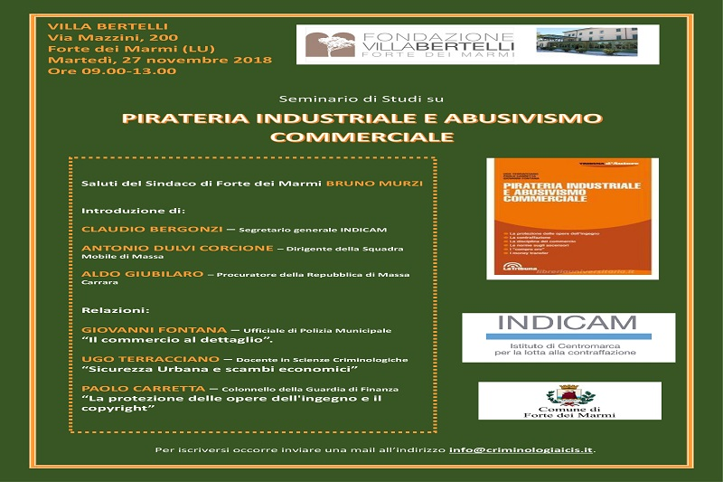 "Seminario di studi ""Pirateria industriale e abusivismo commerciale"""
