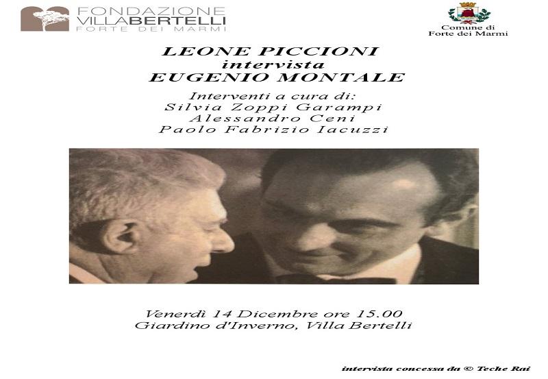 Leone Piccioni intervista Eugenio Montale
