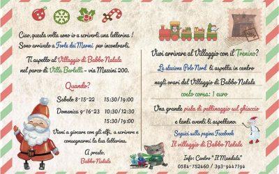"""A Villa Bertelli il """"Villaggio di Babbo Natale"""" e """"Forte on Ice"""""""
