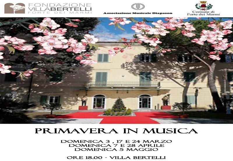 Primavera in musica – Rassegna di concerti a Villa Bertelli