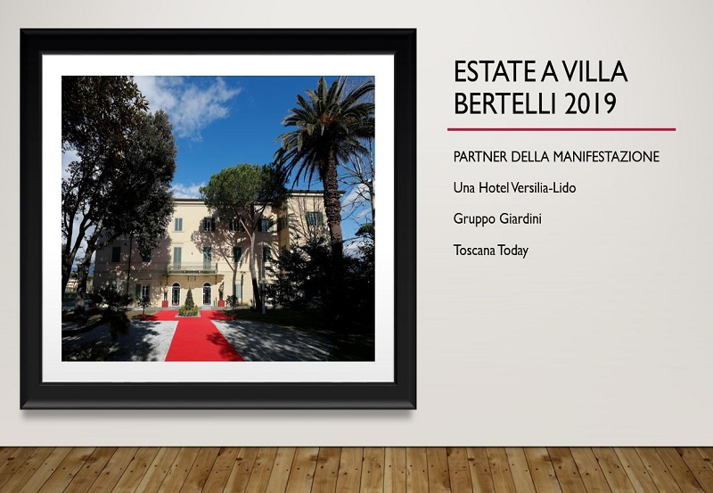 Nuovo look per Villa Bertelli: gli eventi estivi si rinnovano, abbracciando arte e cultura.La musica, in ogni sua espressione, regina dell'estate.