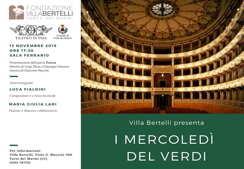 """Rassegna """"I Mercoledì del Verdi"""" – Giacomo Puccini """"Tosca"""""""
