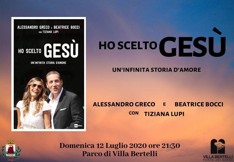 """Beatrice Bocci e Alessandro Greco """"Ho scelto Gesù. Una lunga storia d'amore"""""""