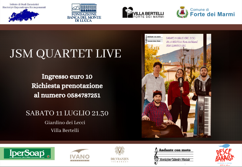 "JSM Quartet  nel concerto ""JSM Quartet LIVE"""