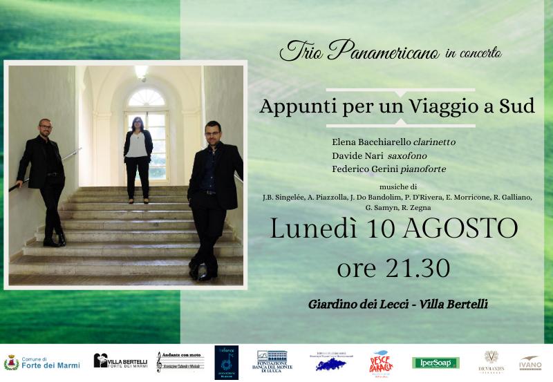 """Trio Panamericano in concerto """"Appunti per un Viaggio a Sud"""""""