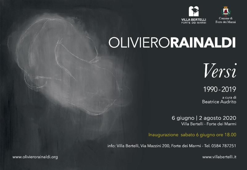 Versi 1990-2019. Mostra personale di Oliviero Rainaldi