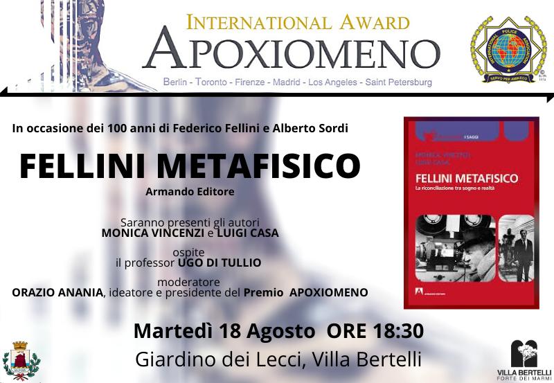 """Presentazione libro """"Fellini Metafisico"""" di M. Vincenzi L. Casa"""