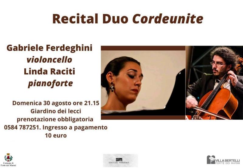 """Recital duo Cordeunite – Rassegna """"Sentieri musicali"""""""