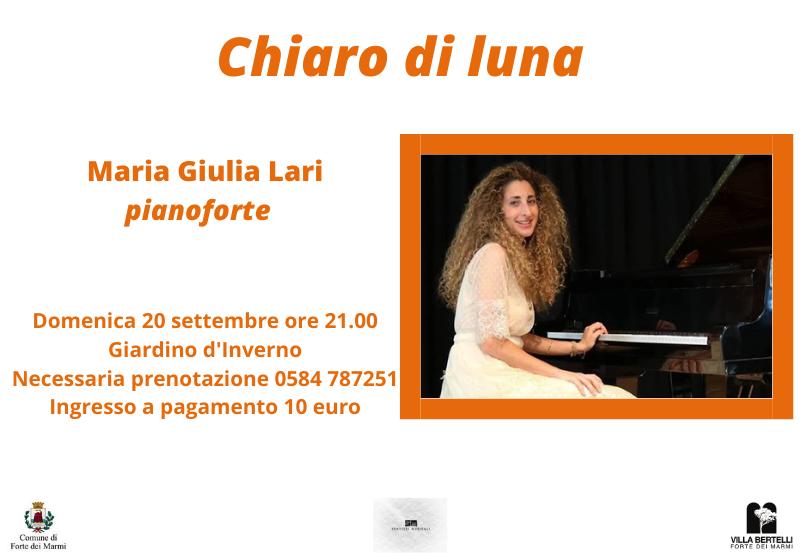 """""""Chiaro di luna"""" concerto con Maria Giulia Lari"""