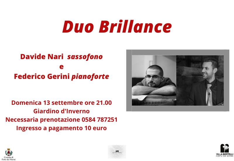 """Concerto """"Duo Brillance"""" – Rassegna Sentieri Musicali"""