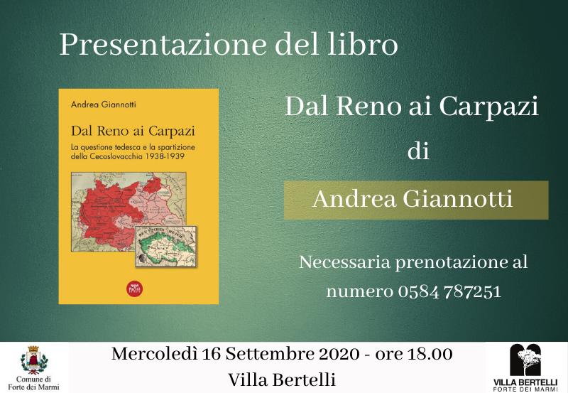 """Presentazione libro """"Dal Reno ai Carpazi"""" di Andrea Giannotti"""