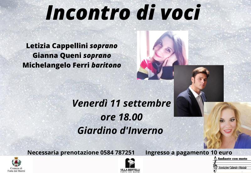 """""""Incontro di voci"""" – Concerto Lirico"""