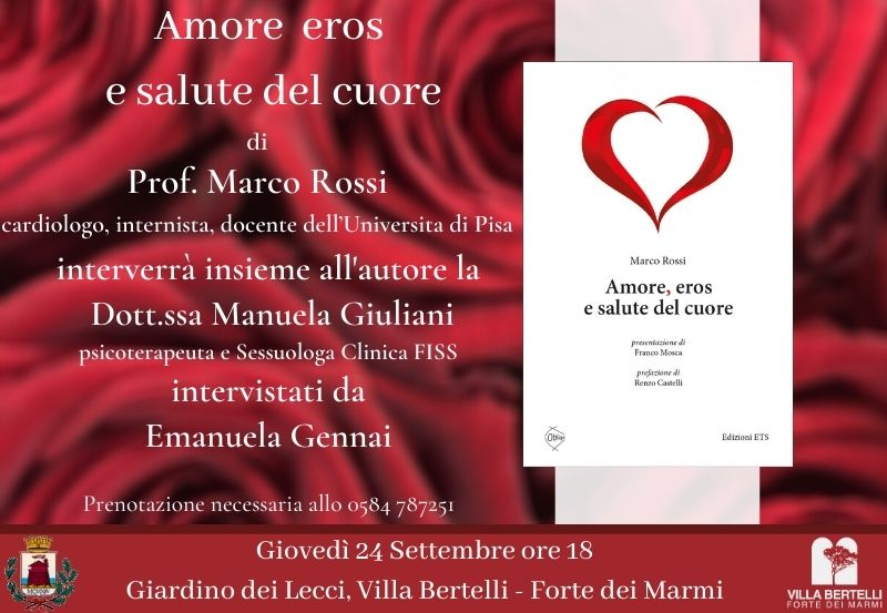 """""""Amore eros e salute del cuore"""" a cura del prof. Marco Rossi"""