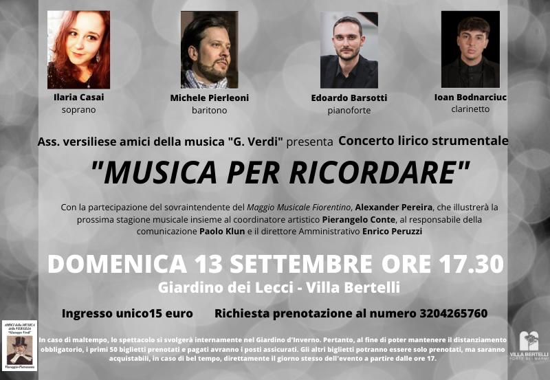 """""""Musica per ricordare"""" Concerto Lirico Strumentale"""