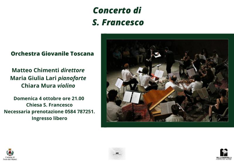 Concerto di S. Francesco con l' Orchestra Giovanile Toscana