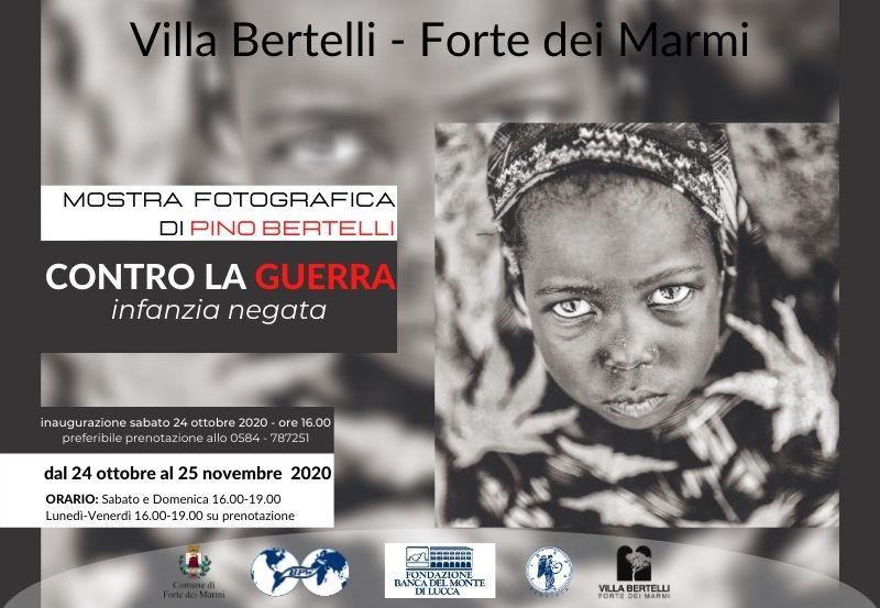 """Inaugurazione della mostra fotografica """"Contro la guerra. Infanzia negata"""" di Pino Bertelli"""