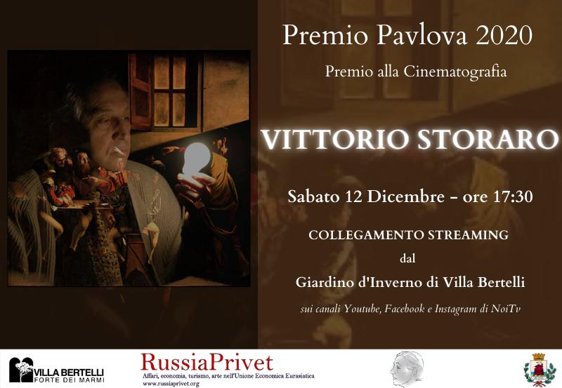 A Vittorio Storaro il Premio Pavlova 2020