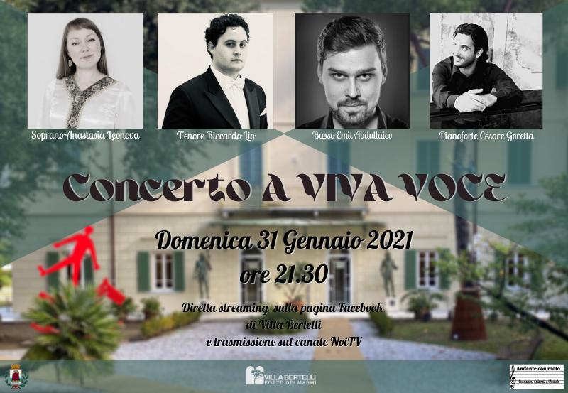 """""""A viva voce"""" Concerto lirico"""