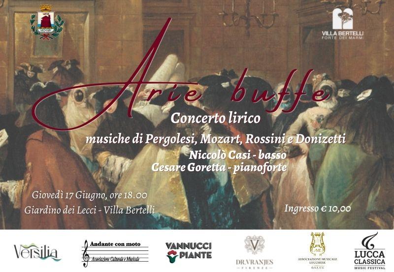 Arie Buffe – Concerto con Niccolò Casi e Cesare Goretta