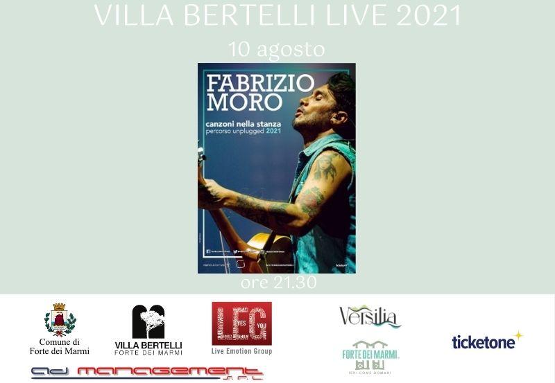 """Fabrizio Moro """"Canzoni nella stanza – percorso unplugged 2021"""""""