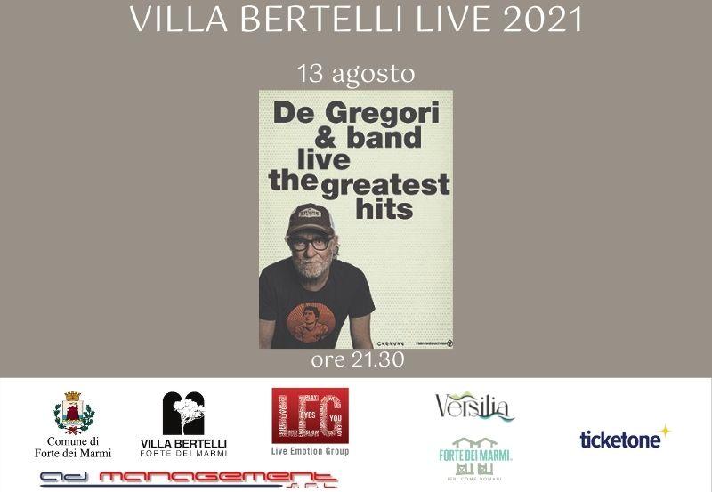 """Francesco de Gregori """"DE GREGORI & BAND LIVE – GREATEST HITS"""""""